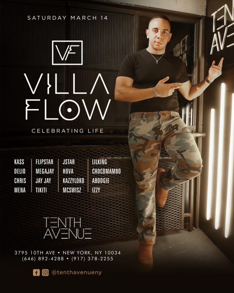 Velvet Saturdays @Tenth Avenue NYC – Villa Flow Birthday Celebration – Mar 14